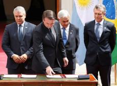 """""""Prosul vai fomentar divisão regional na América do Sul"""", diz ex-presidente da Colômbia"""
