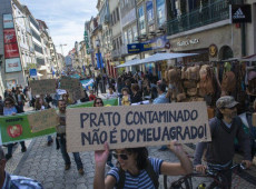 Portugueses protestam contra produtos produzidos e comercializados pela Monsanto