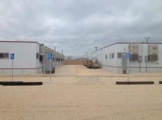 Um dia em um campo de concentração de famílias nos Estados Unidos
